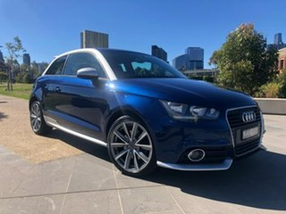 2012 Audi A1 8X MY12 Ambition S Tronic Blue 7 Speed Sports Automatic Dual Clutch Hatchback