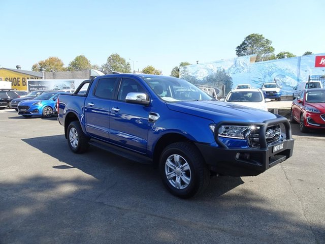 Used Ford Ranger PX MkIII 2021.25MY XLT Double Cab Nowra, 2020 Ford Ranger PX MkIII 2021.25MY XLT Double Cab Blue Lightning 6 Speed Automatic