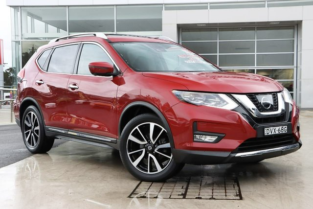 Used Nissan X-Trail T32 Series II Ti X-tronic 4WD Liverpool, 2018 Nissan X-Trail T32 Series II Ti X-tronic 4WD Ruby Red 7 Speed Constant Variable Wagon