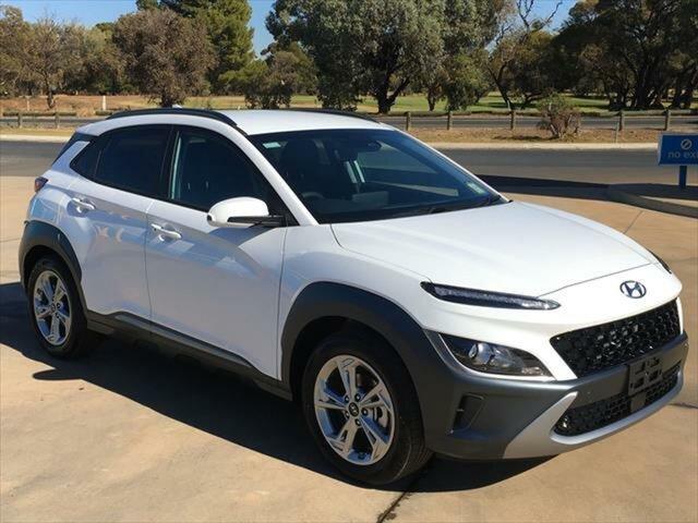 New Hyundai Kona Os.v4 MY21 Elite 2WD Berri, 2021 Hyundai Kona Os.v4 MY21 Elite 2WD Atlas White 8 Speed Constant Variable Wagon