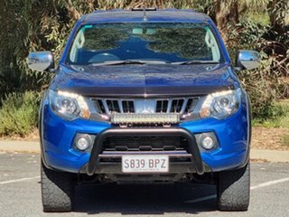 2017 Mitsubishi Triton MQ MY17 GLS Double Cab Blue 5 Speed Sports Automatic Utility.