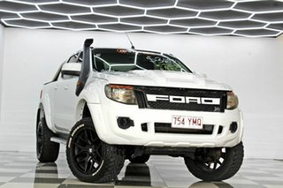 2012 Ford Ranger PX XL 3.2 (4x4) White 6 Speed Manual Double Cab Pick Up.