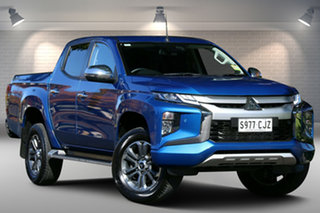 2020 Mitsubishi Triton MR MY20 GLS Double Cab Blue 6 Speed Sports Automatic Utility.