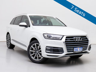2016 Audi Q7 4M 3.0 TDI Quattro Carrara White 8 Speed Automatic Tiptronic Wagon.