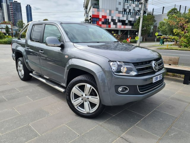 Used Volkswagen Amarok 2H MY14 TDI420 4Motion Perm Highline South Melbourne, 2014 Volkswagen Amarok 2H MY14 TDI420 4Motion Perm Highline Grey 8 Speed Automatic Utility