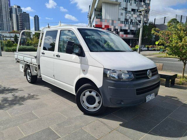 Used Volkswagen Transporter T5 MY09 South Melbourne, 2010 Volkswagen Transporter T5 MY09 White 6 Speed Sports Automatic Cab Chassis