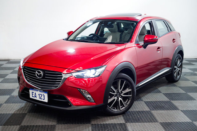Used Mazda CX-3 DK4W7A Akari SKYACTIV-Drive i-ACTIV AWD Edgewater, 2016 Mazda CX-3 DK4W7A Akari SKYACTIV-Drive i-ACTIV AWD Red/Black 6 Speed Sports Automatic Wagon