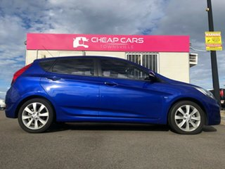 2011 Hyundai Accent RB Active Blue 4 Speed Sports Automatic Hatchback.