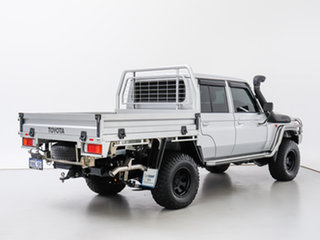 2020 Toyota Landcruiser VDJ79R GXL (4x4) Silver 5 Speed Manual Double Cab Chassis