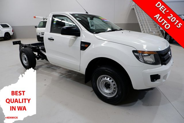 Used Ford Ranger PX XL Hi-Rider Kenwick, 2014 Ford Ranger PX XL Hi-Rider White 6 Speed Sports Automatic Cab Chassis