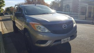 2012 Mazda BT-50 XT (4x4) NO Diff Locks Grey 6 Speed Manual Dual Cab Chassis.