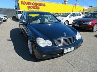 2003 Mercedes-Benz C200 W203 Kompressor Classic Blue 5 Speed Auto Tipshift Sedan.