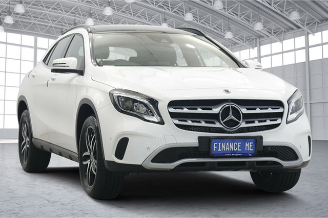 Used Mercedes-Benz GLA-Class X156 808+058MY GLA180 DCT Victoria Park, 2018 Mercedes-Benz GLA-Class X156 808+058MY GLA180 DCT White 7 Speed Sports Automatic Dual Clutch
