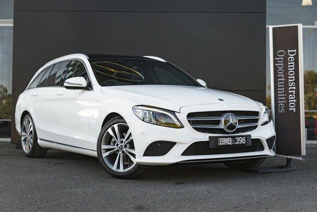 Demonstrator Mercedes-Benz C-Class S205 801MY C200 Estate 9G-Tronic Mulgrave, 2021 Mercedes-Benz C-Class S205 801MY C200 Estate 9G-Tronic Polar White 9 Speed Sports Automatic