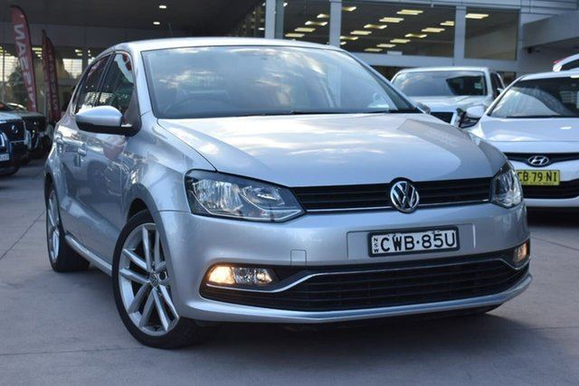Used Volkswagen Polo 6R MY15 81TSI DSG Comfortline Blacktown, 2014 Volkswagen Polo 6R MY15 81TSI DSG Comfortline Silver 7 Speed Sports Automatic Dual Clutch
