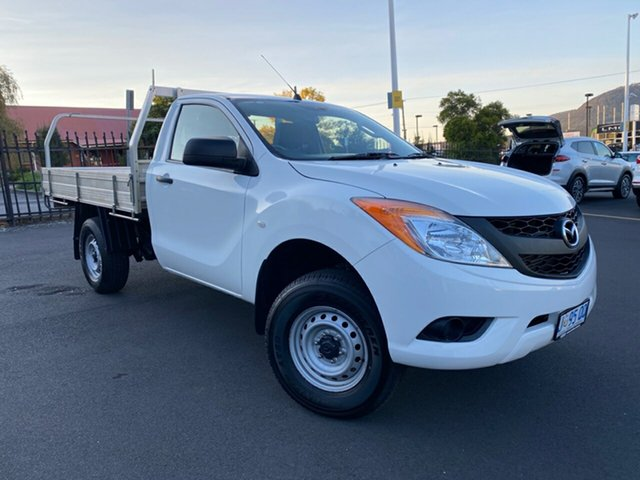 Used Mazda BT-50 UP0YD1 XT 4x2 Glenorchy, 2015 Mazda BT-50 UP0YD1 XT 4x2 White 6 Speed Manual Cab Chassis