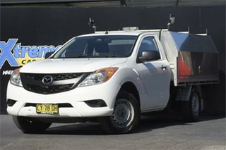 2012 Mazda BT-50 UP0YD1 XT 4x2 White 6 Speed Manual Cab Chassis.