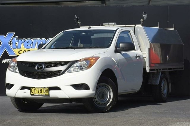 Used Mazda BT-50 UP0YD1 XT 4x2 Campbelltown, 2012 Mazda BT-50 UP0YD1 XT 4x2 White 6 Speed Manual Cab Chassis