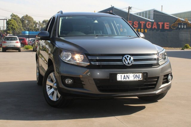 Used Volkswagen Tiguan 5NC MY13 132 TSI Pacific West Footscray, 2013 Volkswagen Tiguan 5NC MY13 132 TSI Pacific Grey 6 Speed Automatic Wagon
