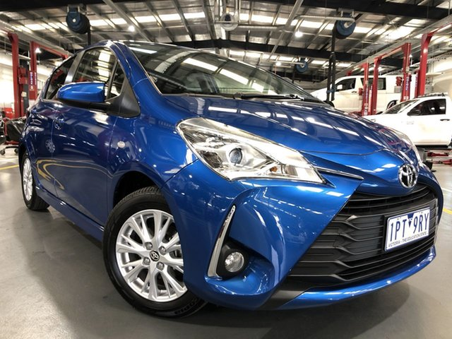 Pre-Owned Toyota Yaris NCP131R ZR Oakleigh, 2019 Toyota Yaris NCP131R ZR Tidal Blue 4 Speed Automatic Hatchback