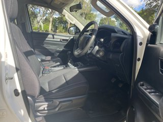 2015 Toyota Hilux GUN126R SR (4x4) Glacier White 6 Speed Manual Dual Cab Chassis