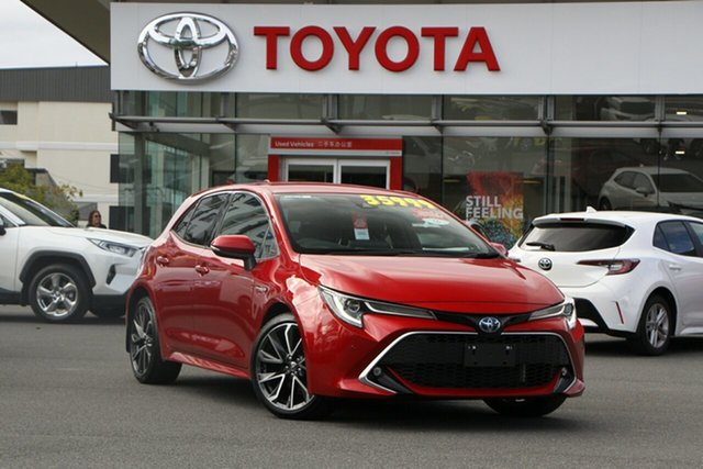Pre-Owned Toyota Corolla ZWE211R ZR E-CVT Hybrid Upper Mount Gravatt, 2020 Toyota Corolla ZWE211R ZR E-CVT Hybrid Feverish Red 10 Speed Constant Variable Hatchback Hybrid
