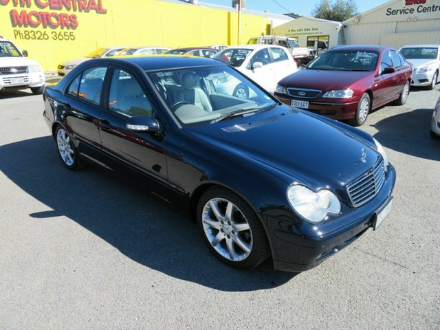 Used Mercedes-Benz C200 W203 Kompressor Classic Morphett Vale, 2003 Mercedes-Benz C200 W203 Kompressor Classic Blue 5 Speed Auto Tipshift Sedan