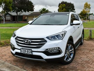 2017 Hyundai Santa Fe DM5 MY18 Highlander Pure White 6 Speed Sports Automatic Wagon.