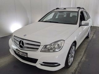 2012 Mercedes-Benz C-Class W204 MY13 C200 BlueEFFICIENCY 7G-Tronic + Elegance White 7 Speed