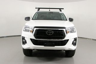 2020 Toyota Hilux GUN126R MY19 Upgrade SR (4x4) White 6 Speed Automatic Double Cab Chassis.