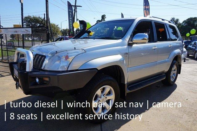 Used Toyota Landcruiser Prado KDJ120R GXL Dandenong, 2008 Toyota Landcruiser Prado KDJ120R GXL Silver Ash 5 Speed Automatic Wagon