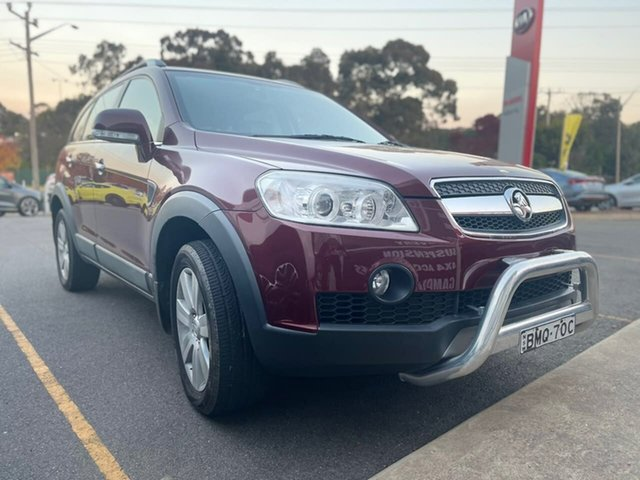 Used Holden Captiva LX Goulburn, 2009 Holden Captiva LX Maroon Sports Automatic Wagon