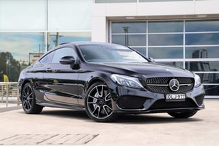 2016 Mercedes-Benz C-Class C205 C43 AMG 9G-Tronic 4MATIC Black 9 Speed Sports Automatic Coupe.
