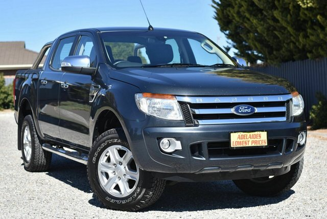 Used Ford Ranger PX XLT Double Cab 4x2 Hi-Rider Morphett Vale, 2014 Ford Ranger PX XLT Double Cab 4x2 Hi-Rider Grey 6 Speed Sports Automatic Utility