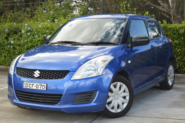 Used Suzuki Swift FZ GA Maitland, 2011 Suzuki Swift FZ GA Blue 4 Speed Automatic Hatchback