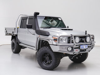 2020 Toyota Landcruiser VDJ79R GXL (4x4) Silver 5 Speed Manual Double Cab Chassis.