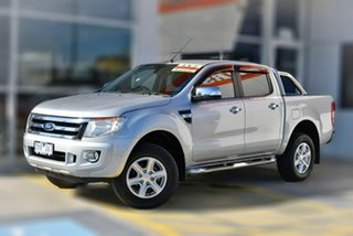 2012 Ford Ranger PX XLT Double Cab 4x2 Hi-Rider Silver 6 Speed Sports Automatic Utility.