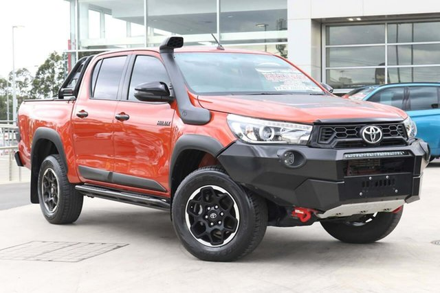 Used Toyota Hilux GUN126R Rugged X Double Cab Liverpool, 2018 Toyota Hilux GUN126R Rugged X Double Cab Inferno 6 Speed Sports Automatic Utility