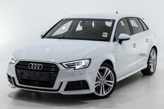 Used Audi A3 8V MY20 35 TFSI Sportback S Tronic S Line Plus Berwick, 2020 Audi A3 8V MY20 35 TFSI Sportback S Tronic S Line Plus White 7 Speed
