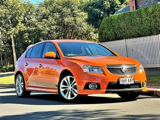 2013 Holden Cruze JH Series II MY14 SRi-V Orange 6 Speed Sports Automatic Hatchback.