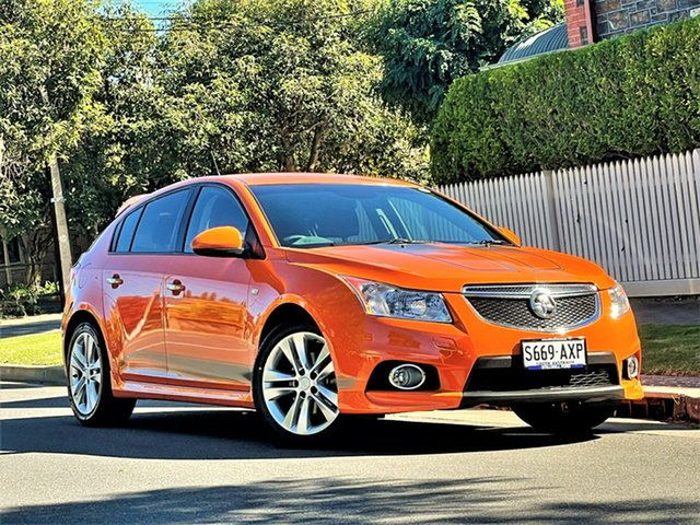 Used Holden Cruze JH Series II MY14 SRi-V Hyde Park, 2013 Holden Cruze JH Series II MY14 SRi-V Orange 6 Speed Sports Automatic Hatchback
