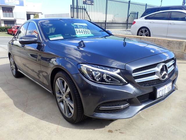 Used Mercedes-Benz C200 205 MY16 Wangara, 2015 Mercedes-Benz C200 205 MY16 Tenorite Grey 7 Speed Automatic Sedan