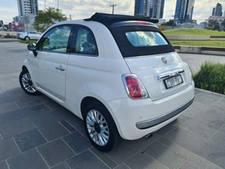 2014 Fiat 500C Series 1 Lounge Dualogic White 5 Speed Sports Automatic Single Clutch Convertible.