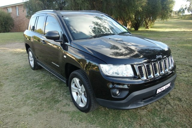 Used Jeep Compass MK MY13 Sport CVT Auto Stick East Maitland, 2012 Jeep Compass MK MY13 Sport CVT Auto Stick Black 6 Speed Constant Variable Wagon