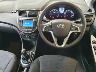 2015 Hyundai Accent RB2 MY15 Active White 6 Speed Manual Hatchback.