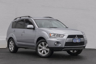 2011 Mitsubishi Outlander ZH MY11 XLS Silver 6 Speed Constant Variable Wagon.