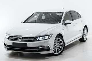 2018 Volkswagen Passat 3C (B8) MY18 206TSI DSG 4MOTION R-Line White 6 Speed.