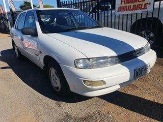 1998 Kia Mentor GLX White 5 Speed Manual Hatchback.