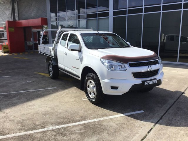 Used Holden Colorado RG MY13 LX Space Cab Cardiff, 2013 Holden Colorado RG MY13 LX Space Cab White 5 Speed Manual Cab Chassis