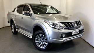 2018 Mitsubishi Triton MR MY19 GLS Double Cab Silver 6 Speed Manual Utility.